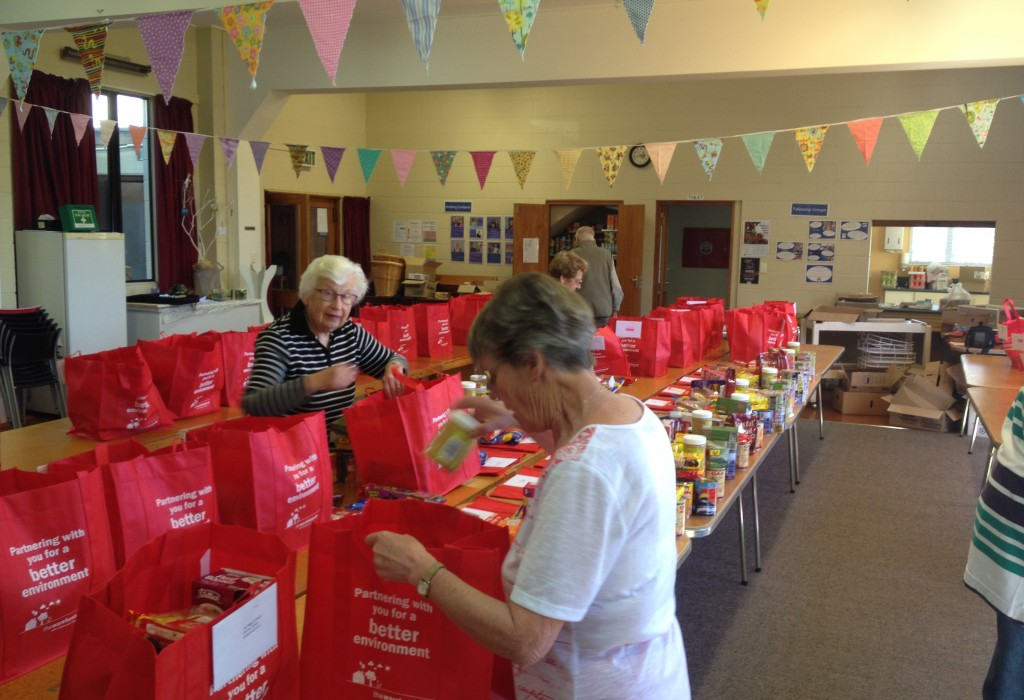 Christmas Food Parcels getting ready to go out to the community